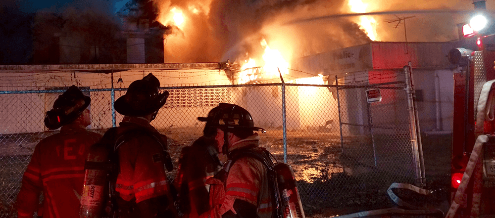 Firefighters at Structure Fire